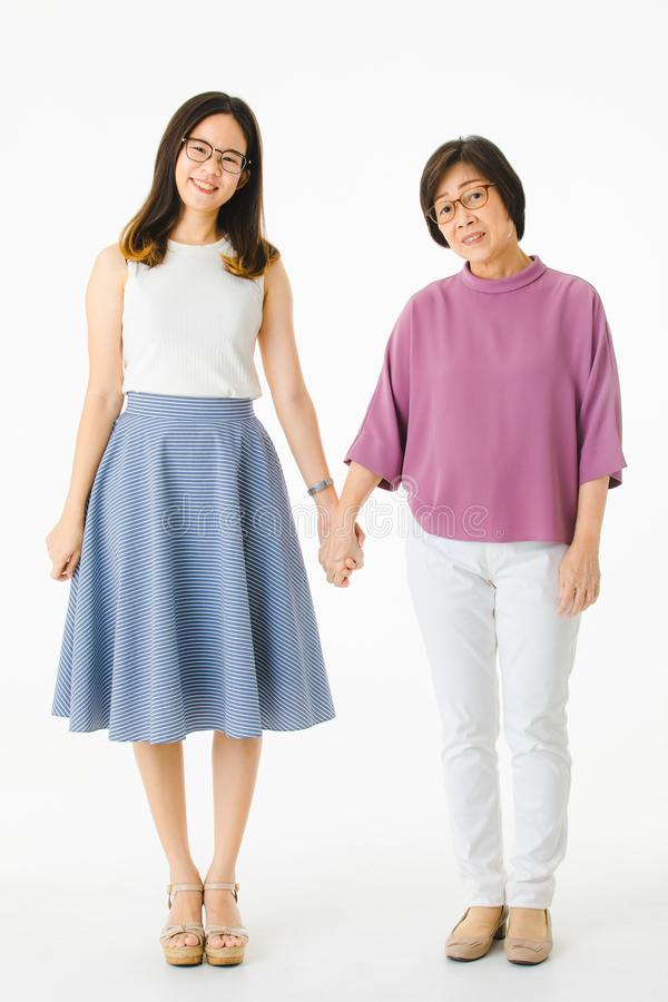 Asian ladies in casual dress stock image