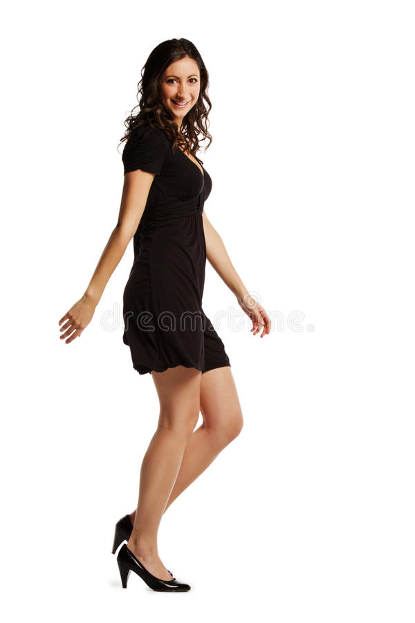 Download Full Length Image Of Confident Young Woman Walking Stock Image - Image of smiling, playful: 23001471