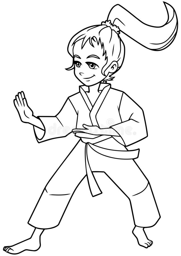Karate Girl Stock Illustrations 1 348 Karate Girl Stock Illustrations Vectors Clipart Dreamstime
