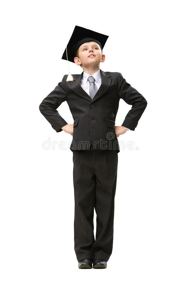 Download Full Length Of Little Student In Academic Cap Royalty Free Stock Images - Image: 34249879