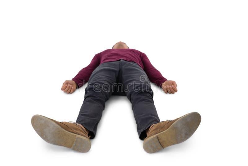 Full length of man lying down stock images