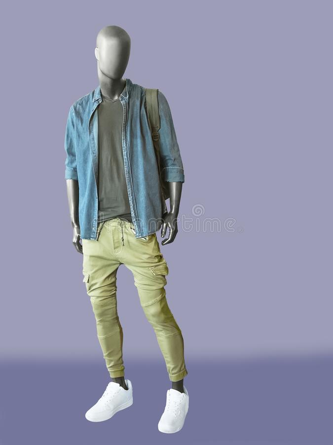 Full-length man mannequins royalty free stock image