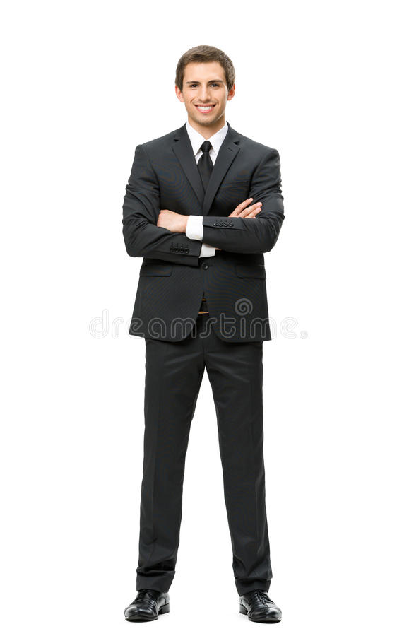 Free Full Length Of Business Man With Hands Crossed Royalty Free Stock Photos - 34733878