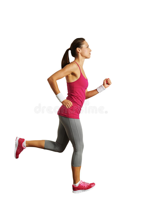 Download Full-length Photo Of Running Woman Stock Photo - Image: 34258942