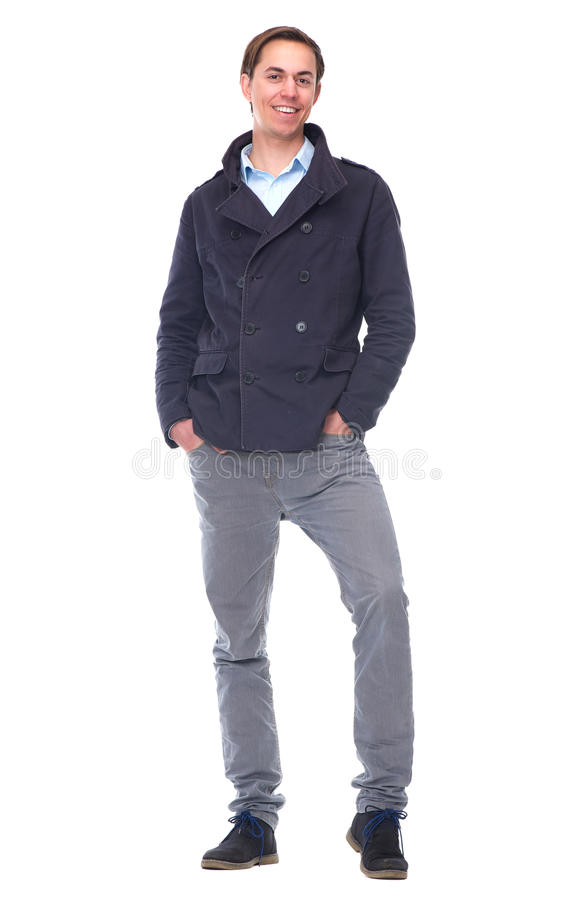Full Length Portrait Of An Attractive Young Man Smiling Royalty Free Stock Image