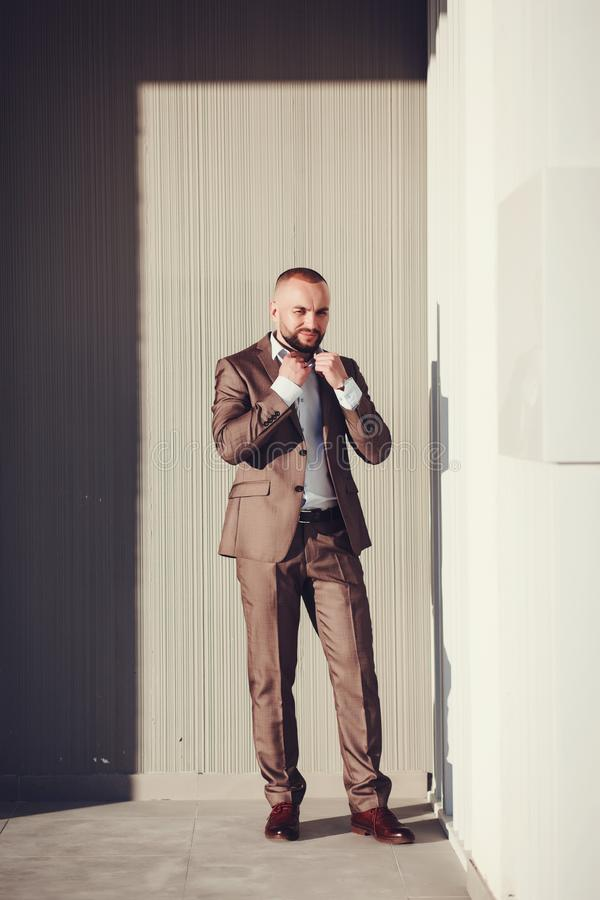 Full-length portrait of a business man royalty free stock photo
