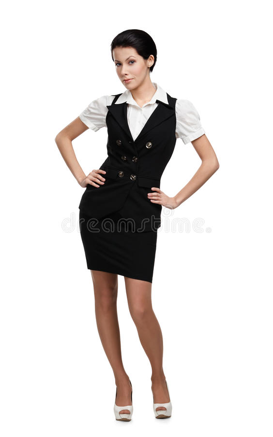Full-length Portrait Of Business Woman Royalty Free Stock Photos