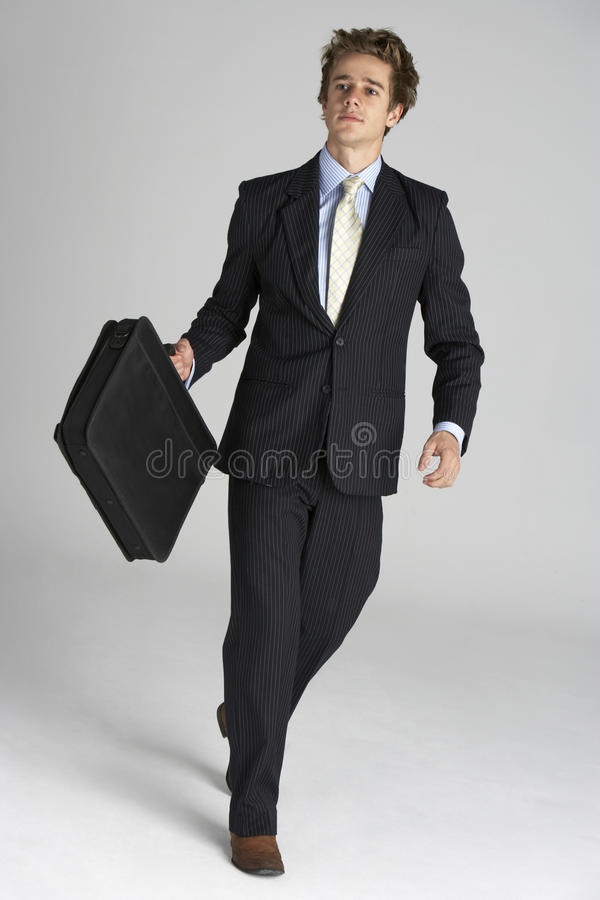 Full Length Portrait Of Businessman Stock Images