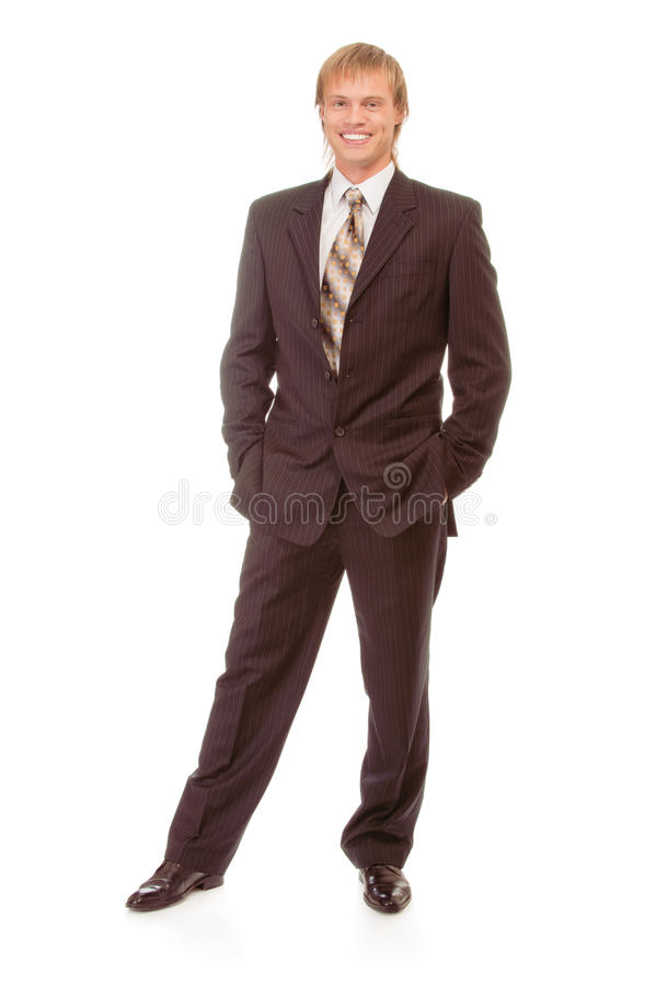 Full-length portrait of businessman stock photography