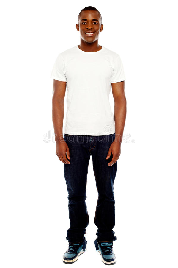 Full length portrait of casual adult man royalty free stock image