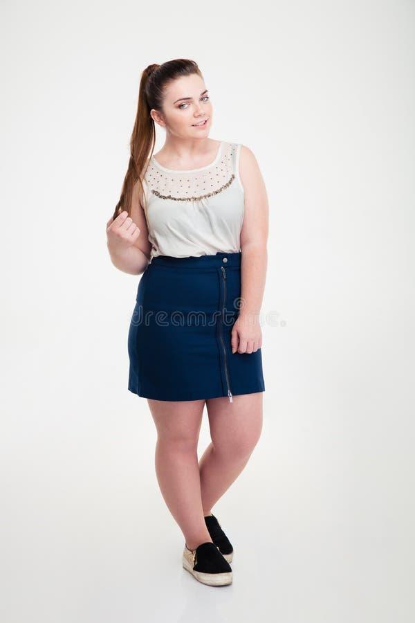 standing Fat woman
