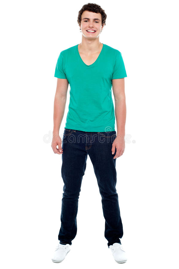 Full length portrait of casual teenager stock photos