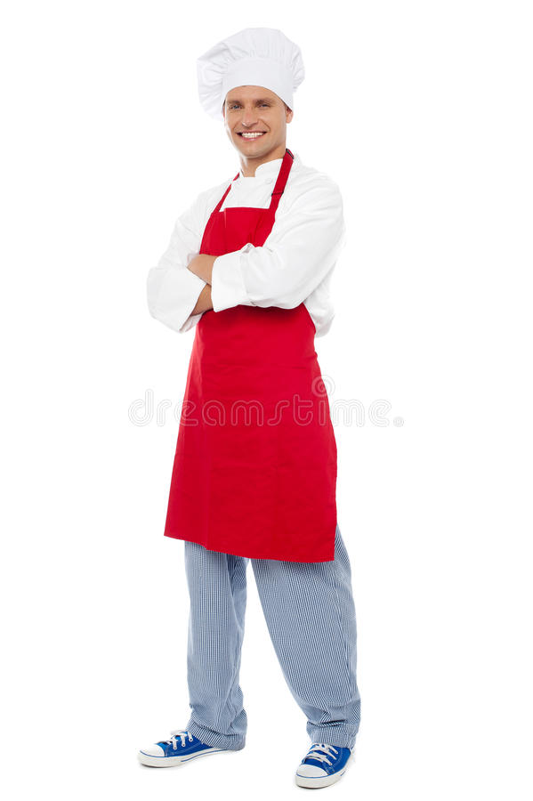 Download Full Length Portrait Of Chef Posing In Style Stock Image - Image: 26395557