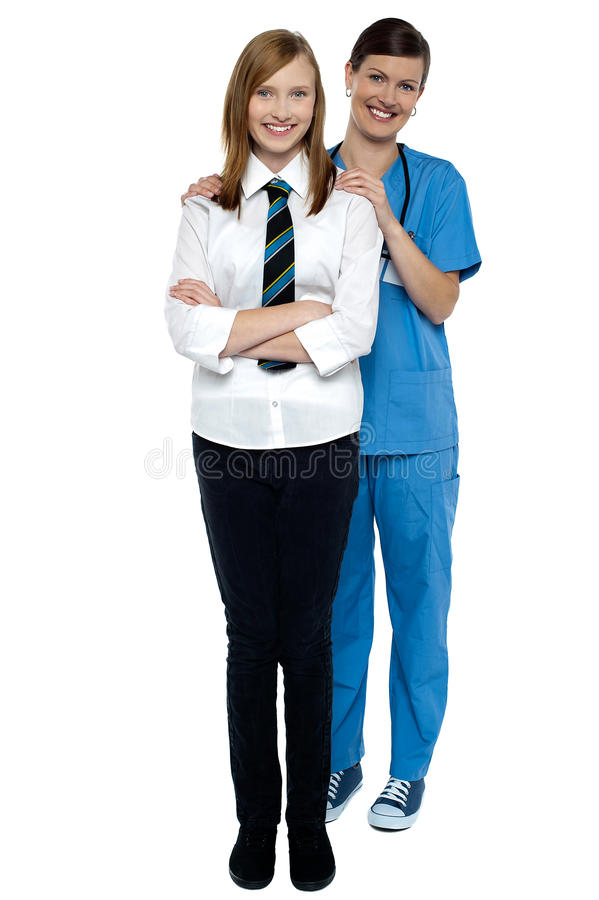 Download Full Length Portrait Of A Doctor With Her Patient Stock Photography - Image: 28004332
