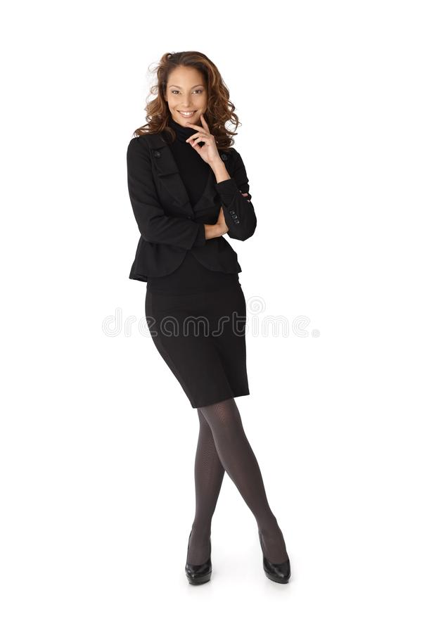 Download Full Length Portrait Of Happy Businesswoman Stock Image - Image: 26973815