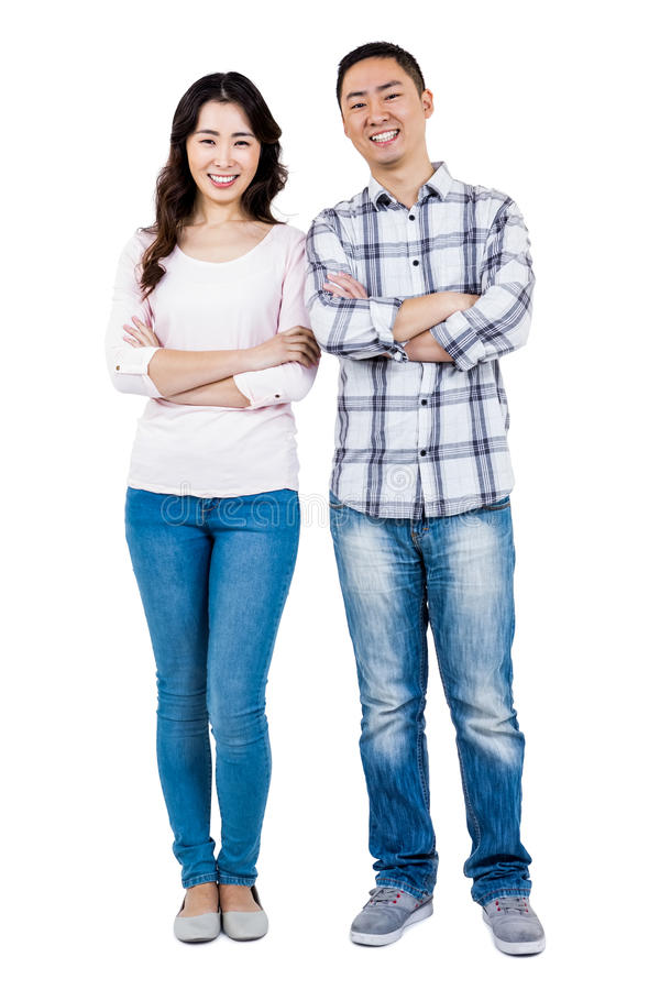 Full length portrait of happy couple royalty free stock images