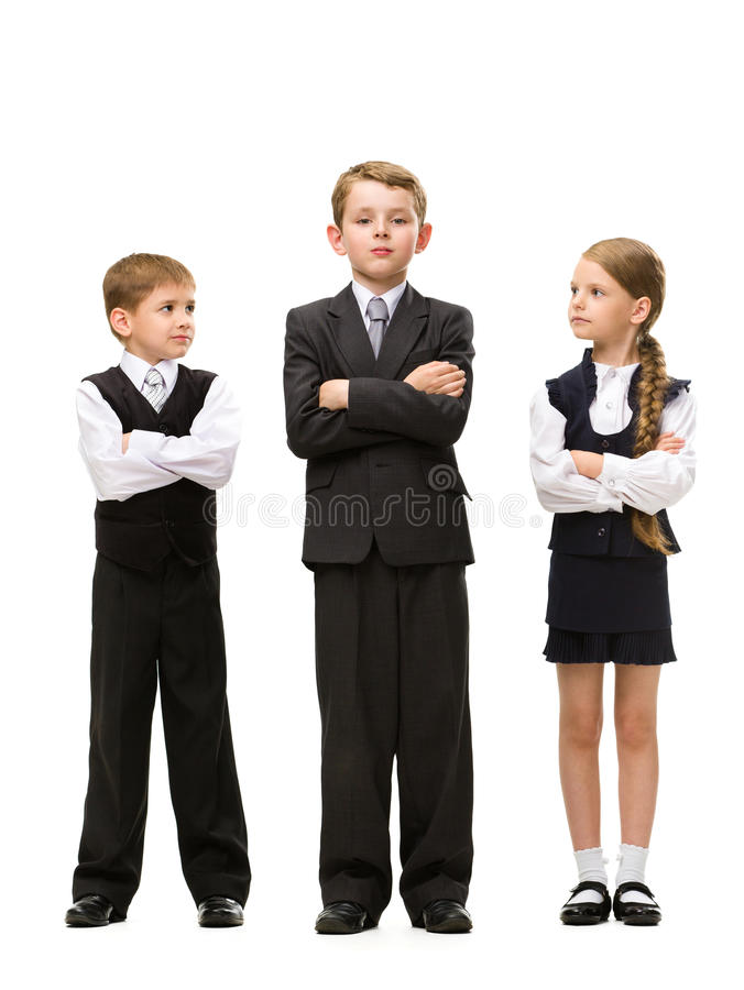 Download Full Length Portrait Of Little Children With Hands Crossed Stock Image - Image of beautiful, business: 34420351