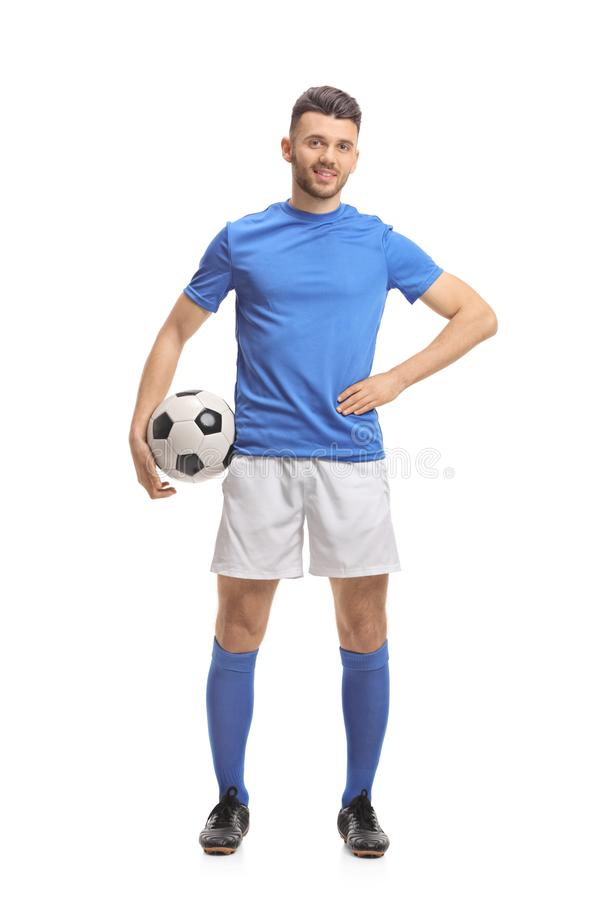 Male soccer player royalty free stock images