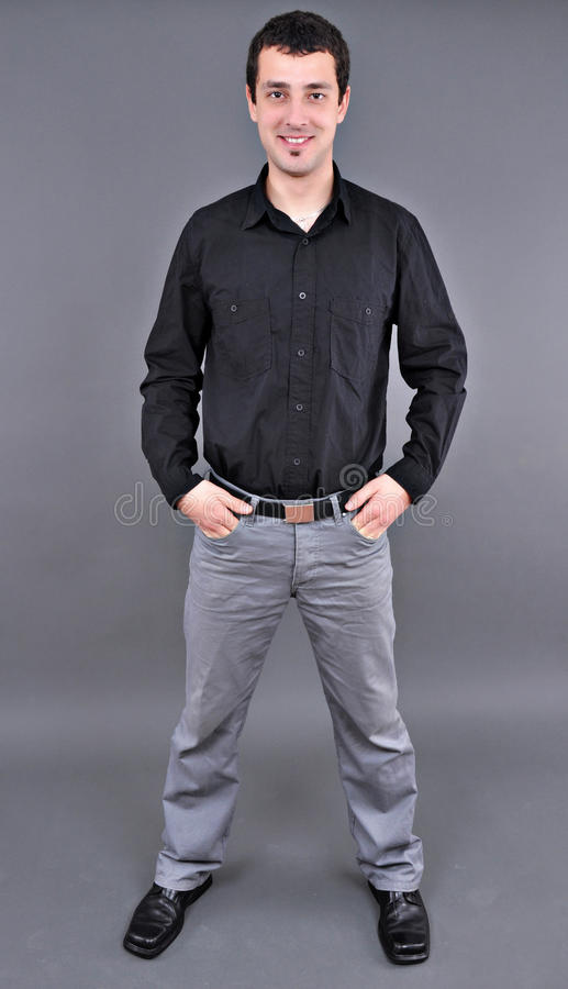 Free Full Length Portrait Of A Handsome Young Man Royalty Free Stock Photo - 18051295