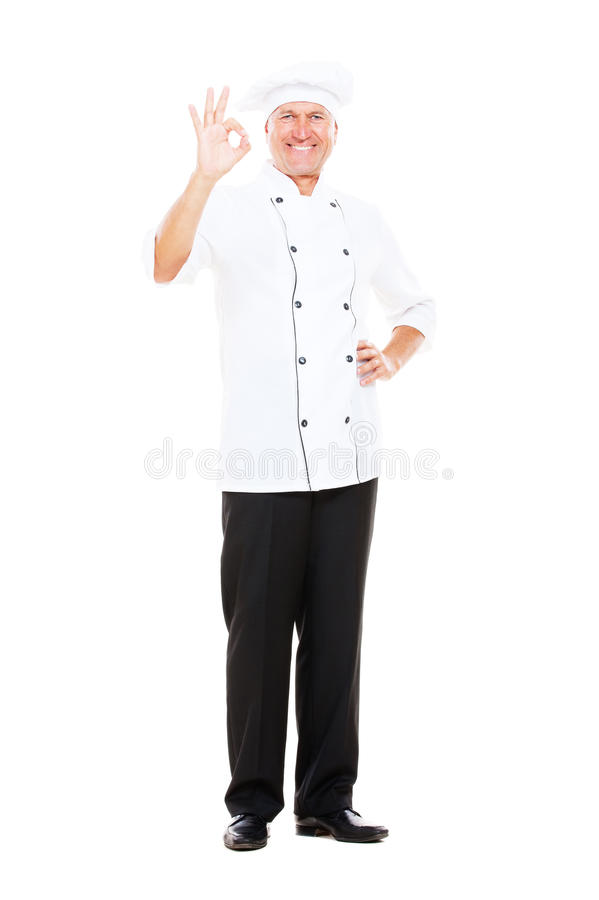 Download Full Length Portrait Of Smiley Cook Stock Image - Image of smiley, human: 21345409