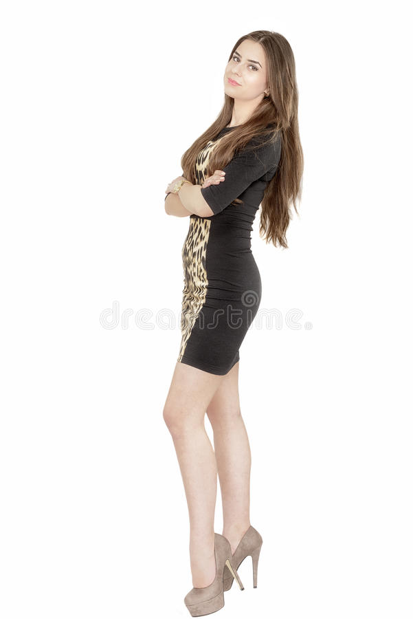 Download Full Length Portrait Of A Smiling Fashionable Woman Stock Image - Image: 41440699