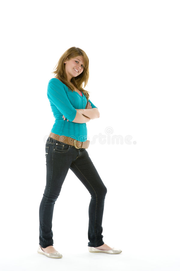 Download Full Length Portrait Of Teenage Girl Stock Photo - Image: 7231888