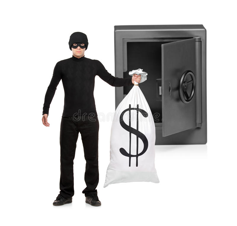 Download Full Length Portrait Of A Thief Stealing Royalty Free Stock Image - Image: 16843816