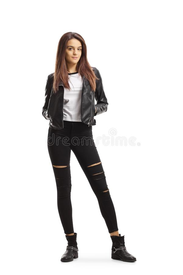 Trendy young female stock images