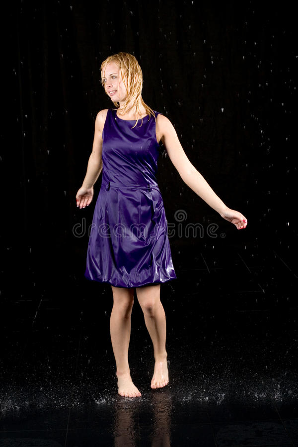 Full length portrait of a woman royalty free stock photos
