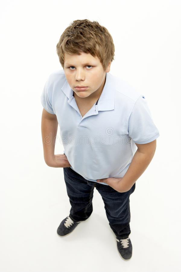 Full Length Portrait Of Young Boy Royalty Free Stock Image
