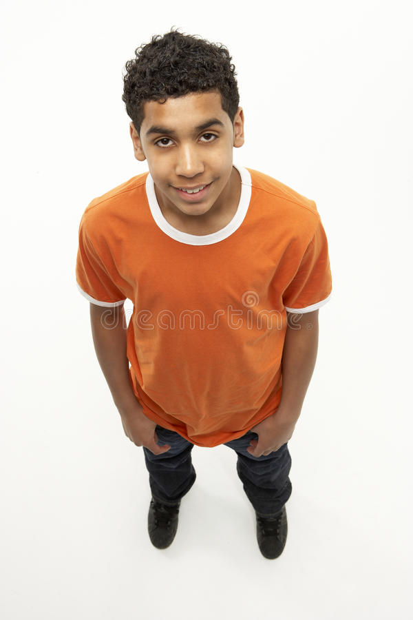 Download Full Length Portrait Of Young Boy Stock Image - Image of teen, adolescent: 10003479