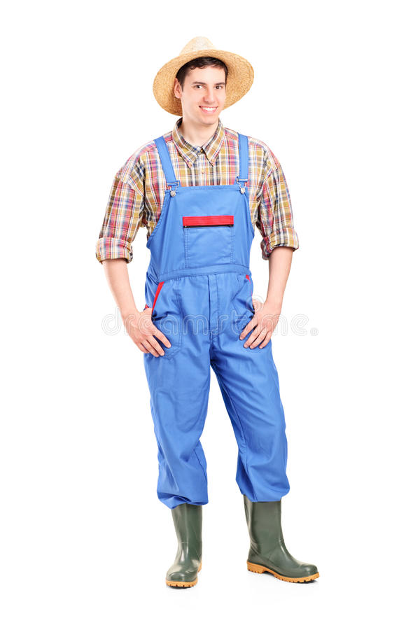 Download Full Length Portrait Of A Young Male Farmer Smiling Stock Photo - Image: 28577118