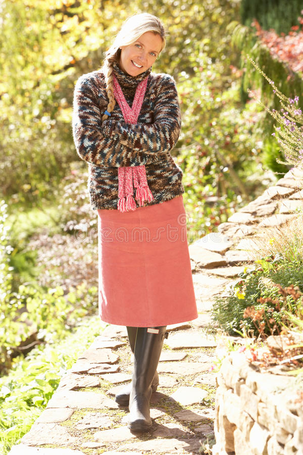 Download Full Length Portrait Of Young Woman Walking Stock Image - Image: 15543047
