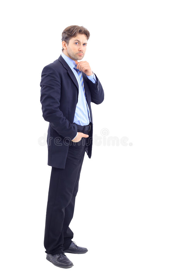 Full length profile of a middle aged stock photography