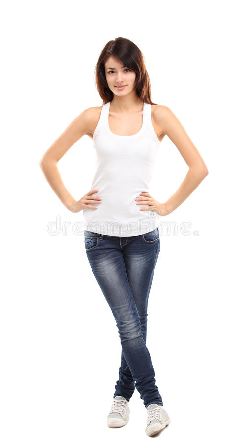 Full length shot of an attractive teenage girl stock photo