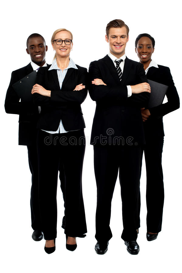 Full length shot of business team stock images