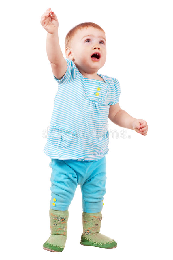 Full length shot of toddler. In active royalty free stock photography