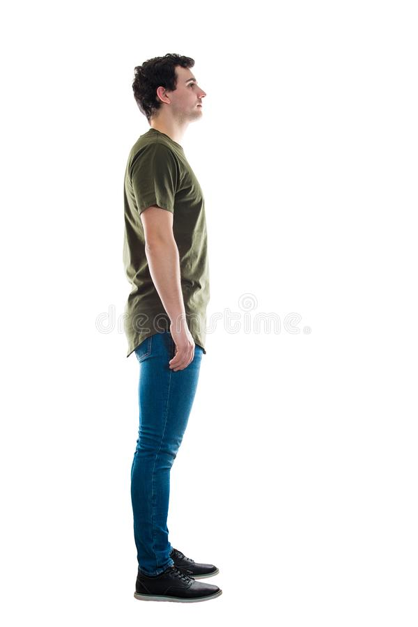 Side view man full length royalty free stock image