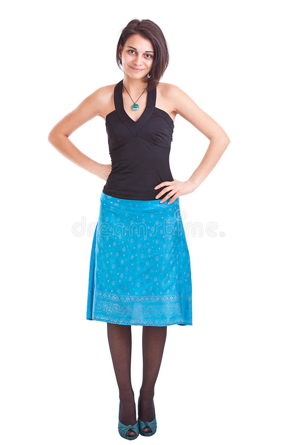 Full length of a smiling young female stock photo