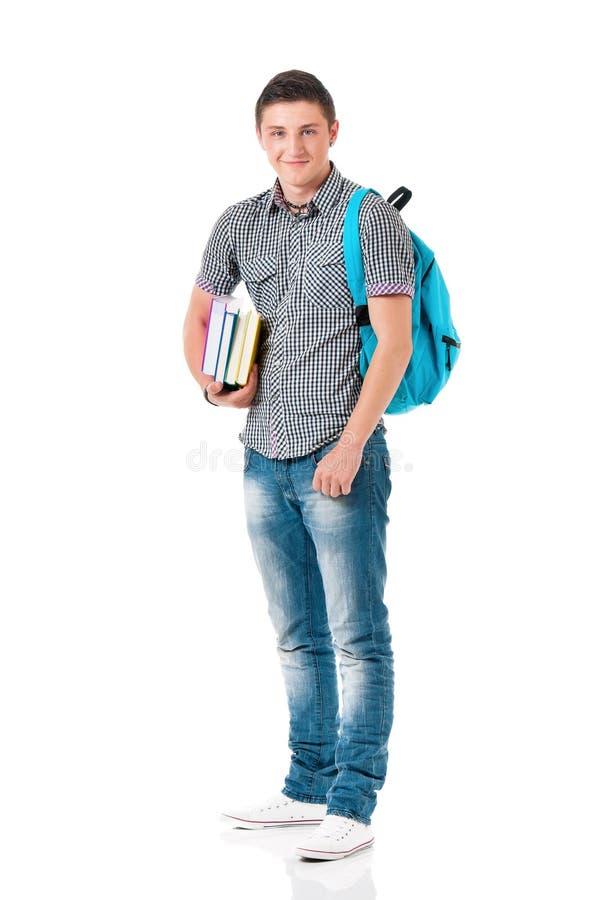 Full length student boy stock image