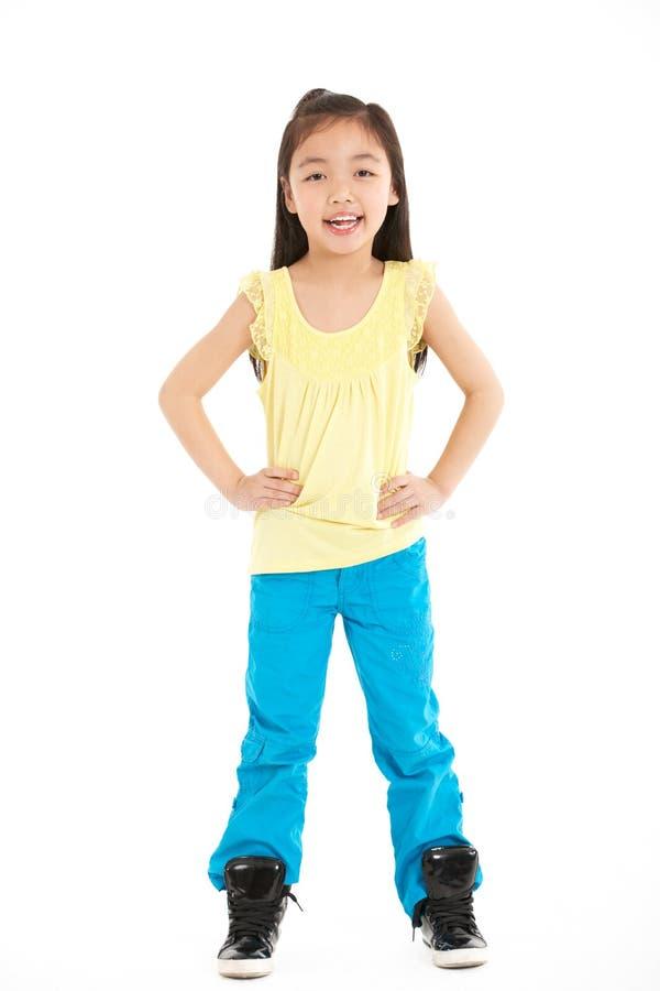 Download Full Length Studio Shot Of Chinese Girl Stock Photo - Image: 26099348