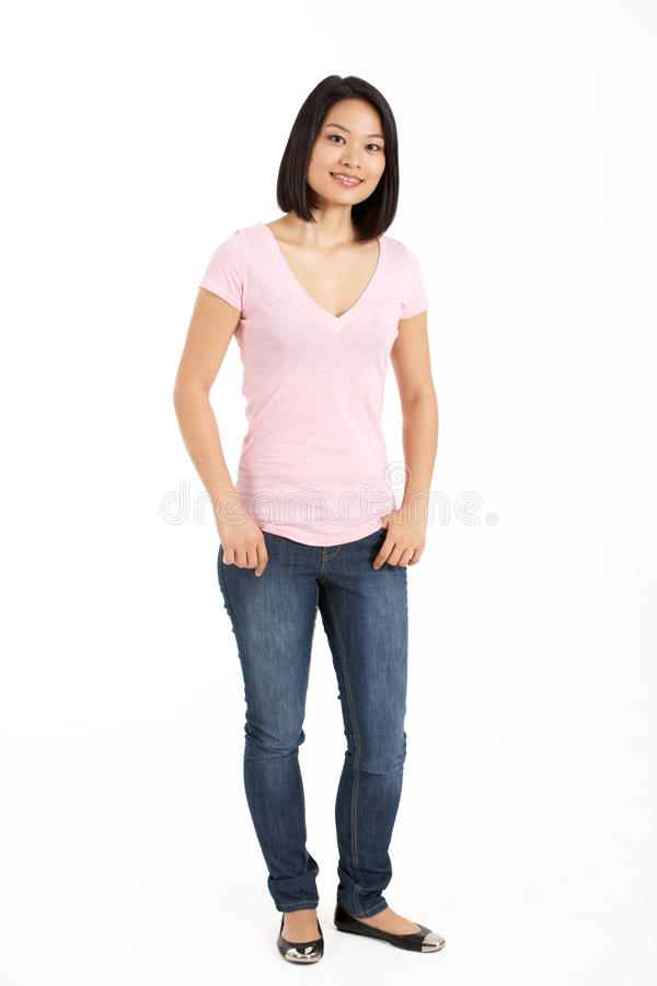 Full Length Studio Shot Of Chinese Woman Stock Image