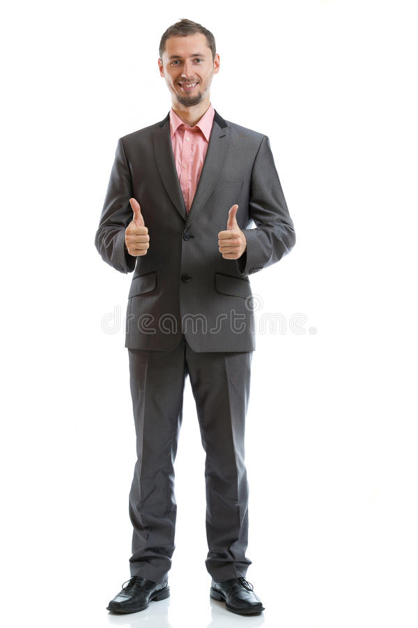 Full length suit tie businessman stock photos