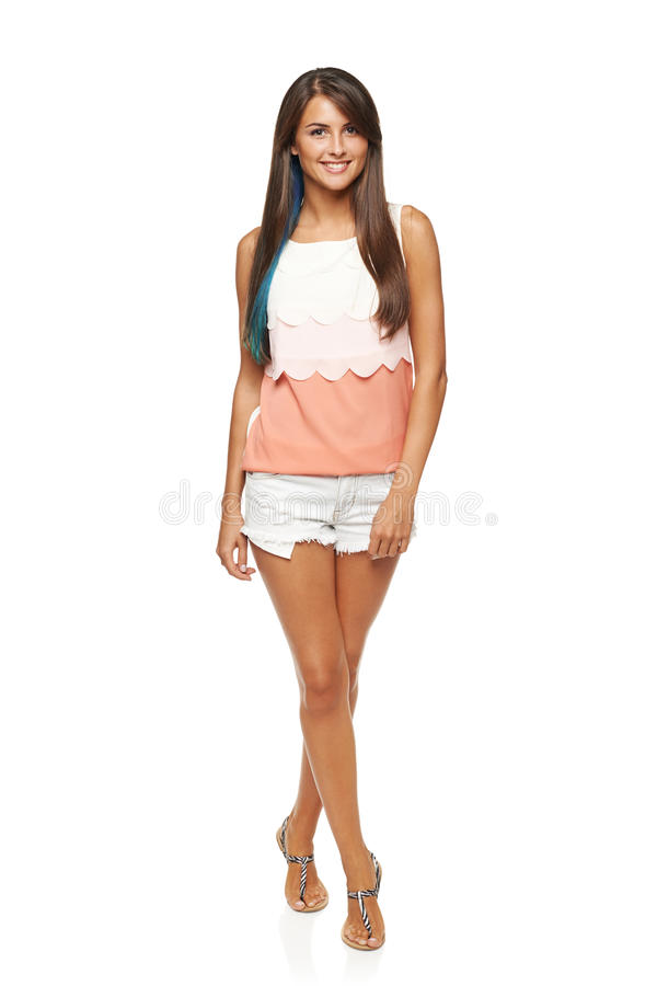Full length summer funky girl stock images