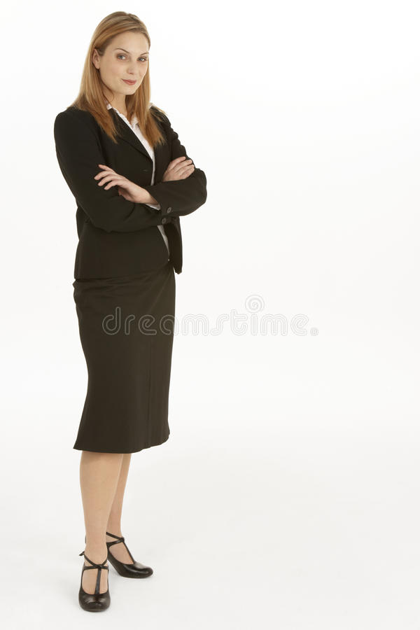 Download Full Length View Of Businesswoman Stock Image - Image: 12406865