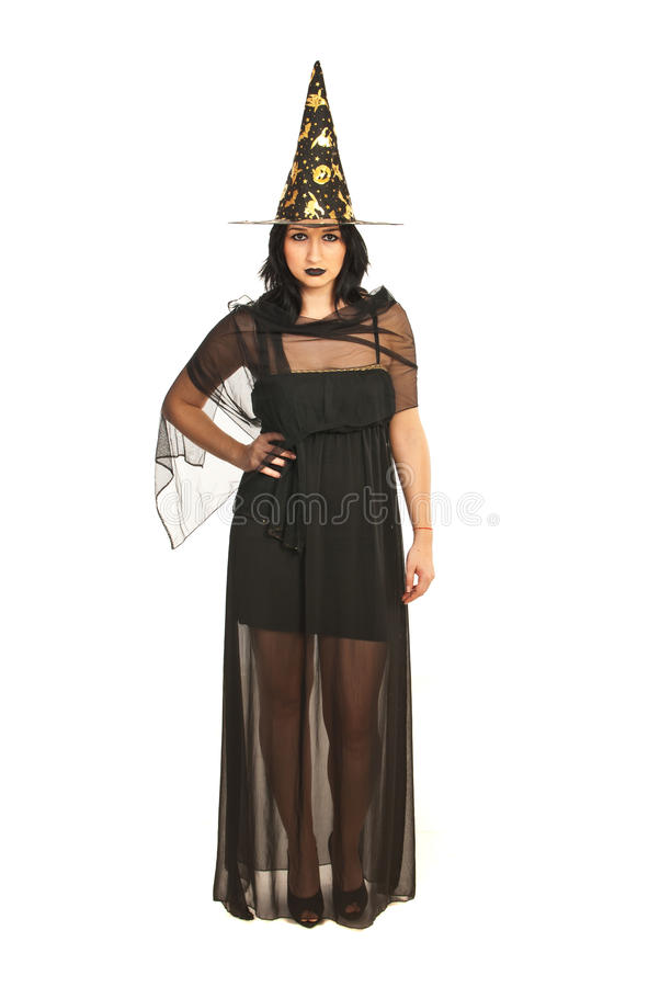 Full Length Of Witch Stock Photo