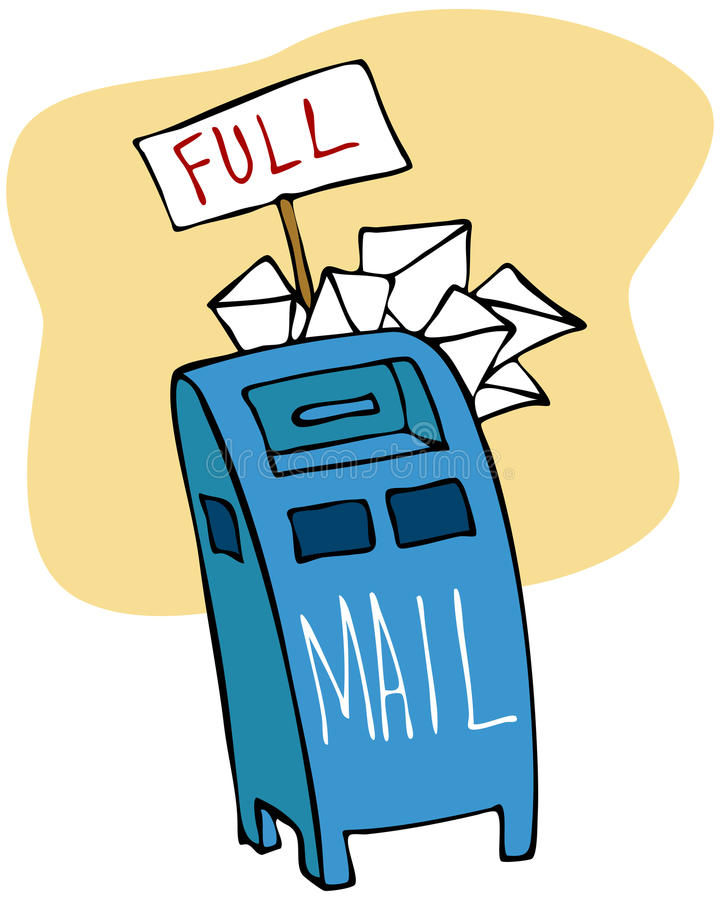 Download Full Mailbox stock vector. Image of drawing, delivery - 17589552
