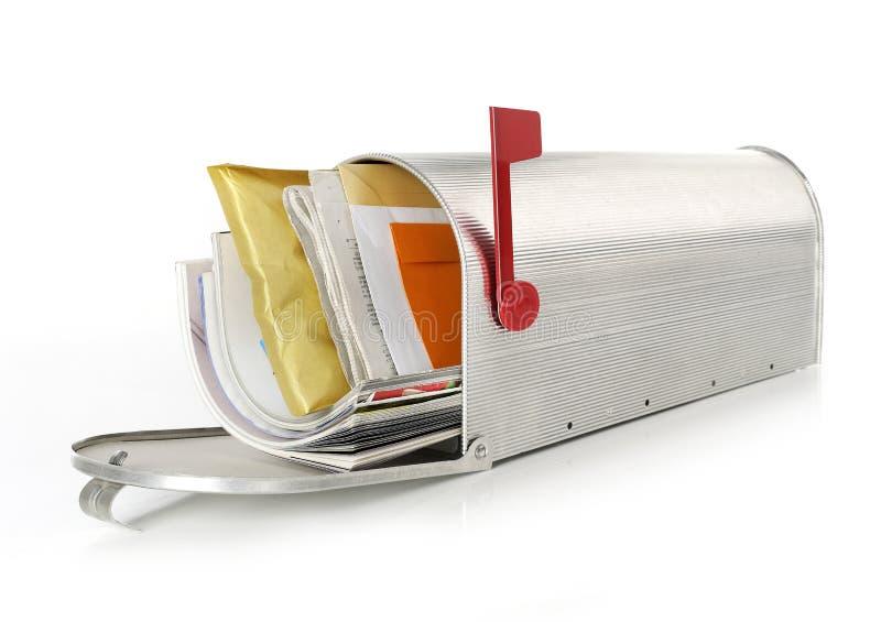 Full mailbox stock photo Image of envelope background 42890678