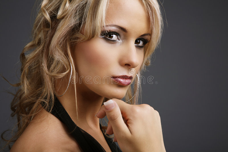Full make up. stock photography