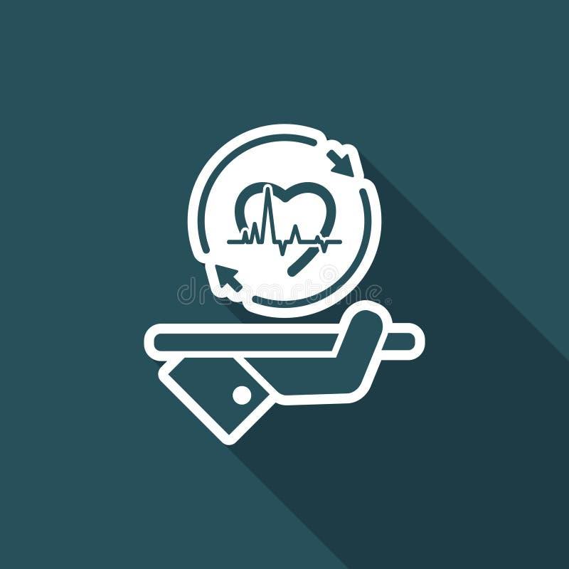 Full medicinsk övervakning - vektorrengöringsduksymbol stock illustrationer